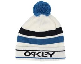 B1B Logo Striped White/Black/Blue Pom - Oakley