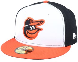 Baltimore Orioles AC Performance White/Black Fitted - New Era