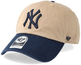 a4d758140f8b7 New York Yankees Two Tone Khaki Navy Adjustable - 47 Brand