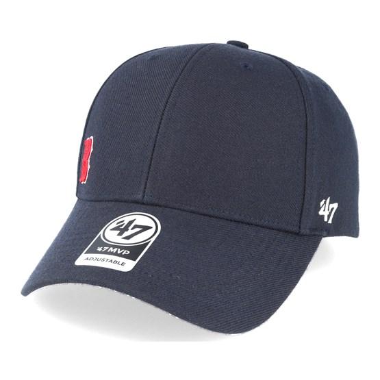 47 Brand Cincinnati Reds MVP Black Out Dad Hat