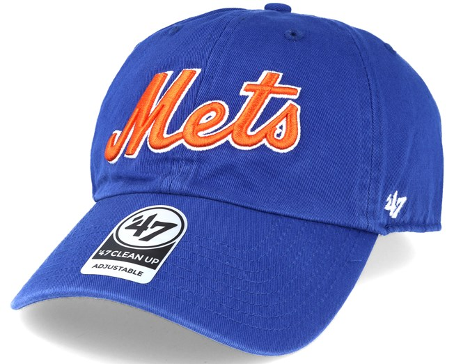 97109fb838c77 New York Mets Script Clean Up Royal Blue Adjustable - 47 Brand caps ...