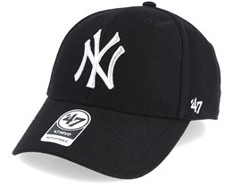 New York Yankees Mvp Black/Silver Loughlin Adjustable - 47 Brand