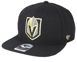 Vegas Golden Knights No Shot 47 Captain Black/Gold Snapback - 47 Brand