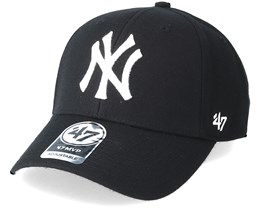 New York Yankees Mvp Black White Adjustable - 47 Brand 08284c1c0