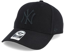 New York Yankees Mvp Black/Black Adjustable - 47 Brand