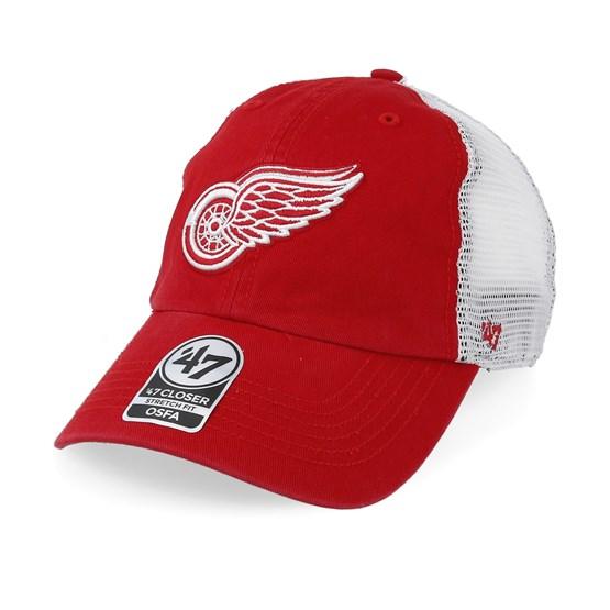 84e668eec7ecb Detroit Red Wings Blue Hill 47 Closer Mesh Red White Unconstructed - 47  Brand caps - Hatstoreaustralia.com