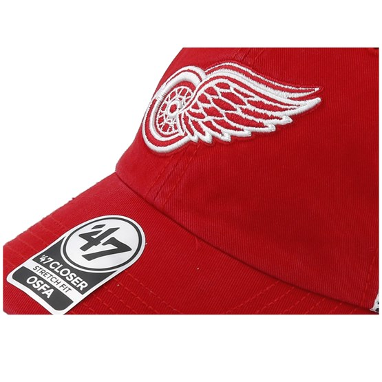 b398aca77c413 Detroit Red Wings Blue Hill 47 Closer Mesh Red White Unconstructed - 47  Brand caps