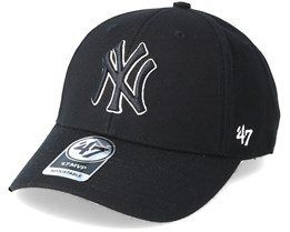 0532eeb2e2bd5 New York Yankees Mvp Black Black Adjustable - 47 Brand