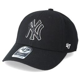 47 Brand New York Yankees Mvp Black Black Adjustable - 47 Brand CA  31.99 a5e5bf0bdf2a