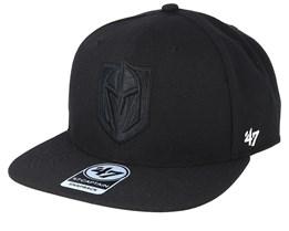 Vegas Golden Knights No Shot 47 Captain Black/Black Snapback - 47 Brand