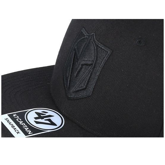 45820572 Vegas Golden Knights No Shot 47 Captain Black/Black Snapback - 47 Brand caps  - Hatstoreworld.com