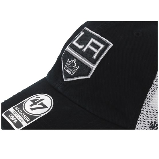 3e91437e37f90 Los Angeles Kings Blue Hill 47 Closer Mesh Black White Unconstructed - 47  Brand caps