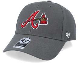 Atlanta Braves Mvp Charcoal/Red Adjustable - 47 Brand