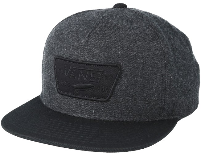 62cc3cbdf5ee9 Full Patch Asphalt Black Snapback - Vans - Start Boné - Hatstore