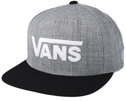 Drop V Heather Grey Snapback - Vans