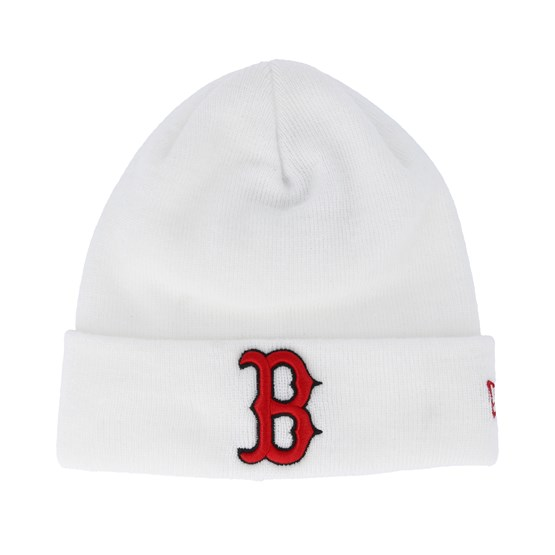 f56d2cc610b Boston Red Sox Essential Knit White Cuff - New Era beanies ...