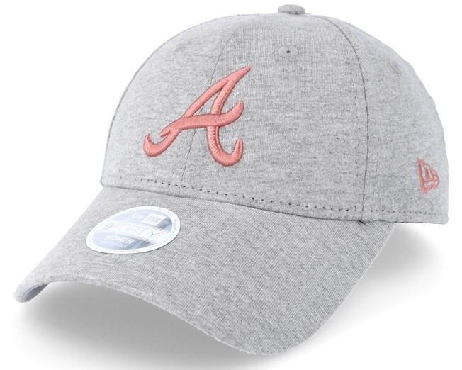 new arrival 1e82a 30618 Atlanta Braves Women Jersey Essential Grey Adjustable - New ...