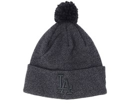 Los Angeles Dodgers Womens Essential Bobble Knit Black Beanie - New Era