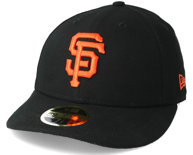 dfee4ab91ce San Francisco Giants Poly Low Profile 59Fifty Black Fitted - New Era keps -  Hatstore.se