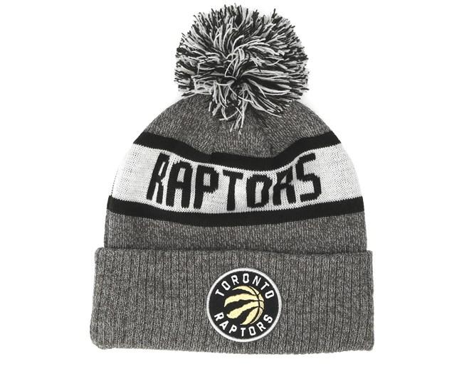 ca91fa95312 Toronto Raptors Marl Knit Grey Pom - New Era beanie - Hatstore.co.in