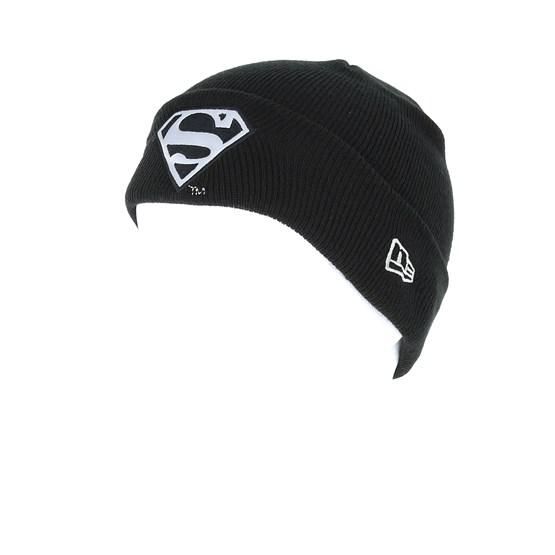 Kids Junior Reflect Superman Knit Black Cuff - New Era beanies ... c2ab438d9016