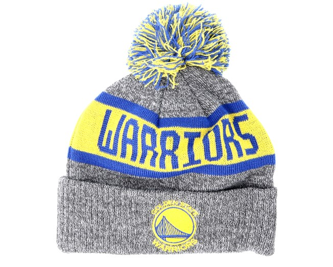 Kids Golden State Warriors Junior Marl Knit Gray Pom - New Era Cappellino -  Hatstore 6b6268c2f74f