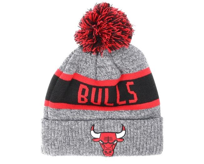 420643e8f51 Kids Chicago Bulls Junior Marl Knit Gray Pom - New Era - Start Boné -  Hatstore