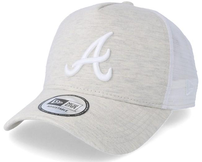 795a01ed780a71 Atlanta Braves Jersey Essential Trucker Grey Adjustable - New Era ...