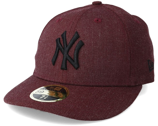 0365bdd970d New York Yankees Heather Low Profile 59Fifty Maroon Fitted - New Era caps -  Hatstoreworld.com