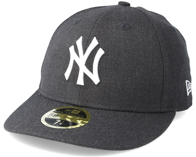 5b83596ca7c New York Yankees Heather Low Profile 59Fifty Dark Grey Fitted - New Era cap  - Hatstore.co.in