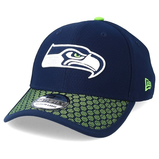 a8875a9977d3a Seattle Seahawks Sideline 39Thirty Navy Flexfit - New Era caps -  Hatstoreworld.com
