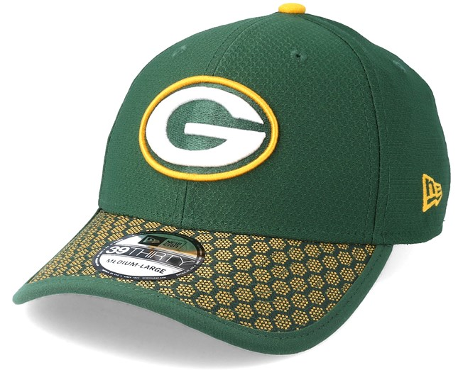 36c65574d96 Green Bay Packers Sideline 39Thirty Green Flexfit - New Era caps -  Hatstoreworld.com