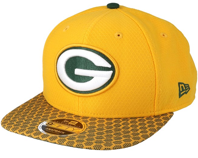 Green Bay Packers Sideline 9Fifty Yellow Snapback - New Era cap -  Hatstore.co.in e9e087a25