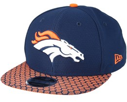 Denver Broncos Sideline 9Fifty Navy Snapback - New Era