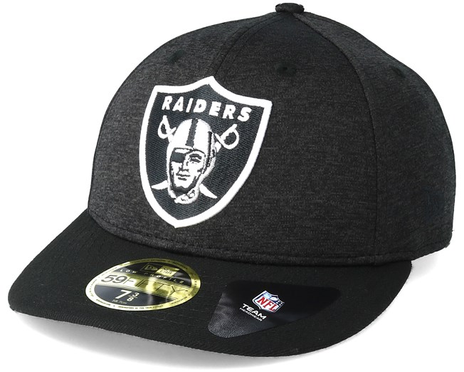 new product 622cc f8adc Oakland Raiders Shadow Tech Low Profile 59Fifty Heather Grey Fitted - New  Era caps - Hatstoreworld.com