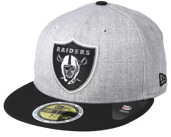 96aaf231261aa Oakland Raiders 59Fifty Reflective Heather Grey Fitted - New Era - Start  Gorra - Hatstore