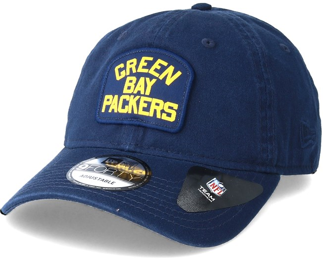 847c9913 Green Bay Packers Patch 9Forty Navy Adjustable - New Era caps ...