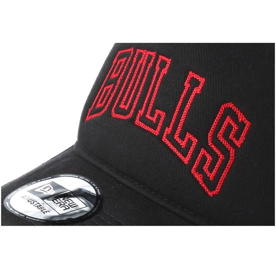 16426b8c2ee Chicago Bulls Chainstitch Aframe Black Adjustable - New Era caps ...