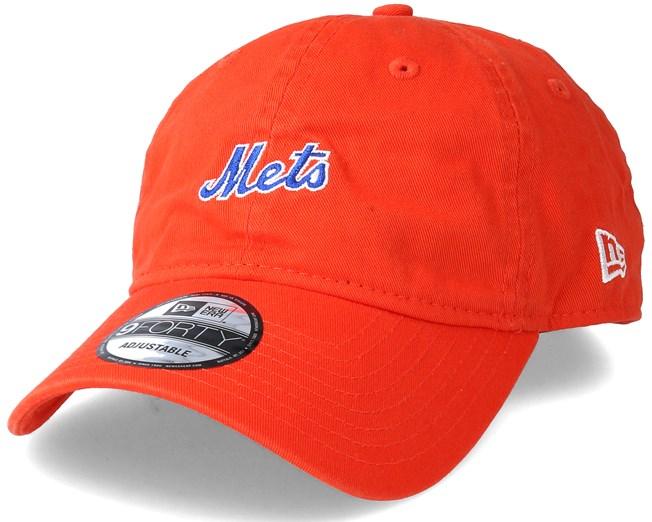 best value be121 9b8a4 New York Mets Mini Wordmark 9Forty Orange Adjustable - New Era caps -  Hatstoreworld.com