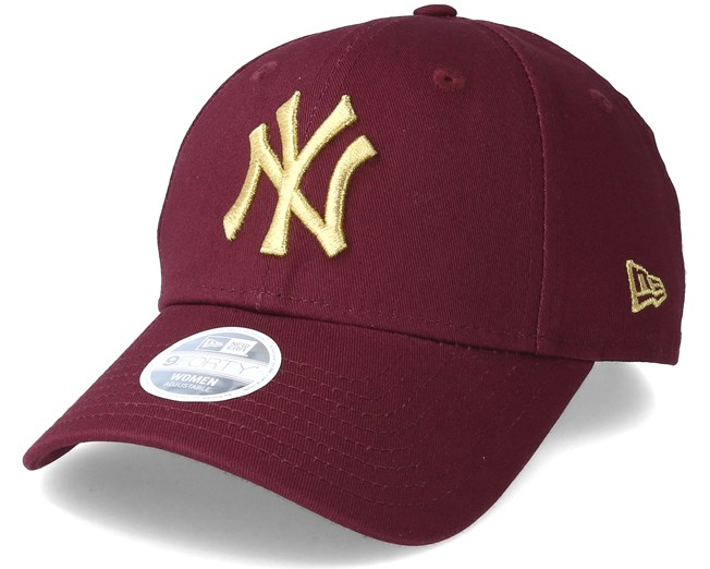 ecbc1384dc9a6 New York Yankees Essential 9Forty Women Maroon Gold Adjustable - New Era  cap - Hatstore.co.in