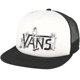 685de247318793 Shaper Gang White Black Trucker - Vans cap - Hatstore.co.in