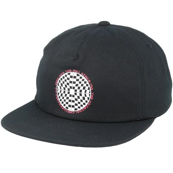 Keps Checkered Shallow Black Snapback - Vans - Svart Snapback