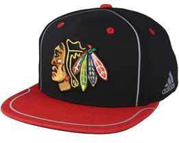 Chicago Blackhawks Bravo Black/Red Snapback - Adidas