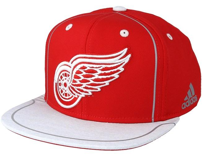 ec9bd000c9f Detroit Red Wings Bravo Red Grey Snapback - Adidas cap - Hatstore.co.in