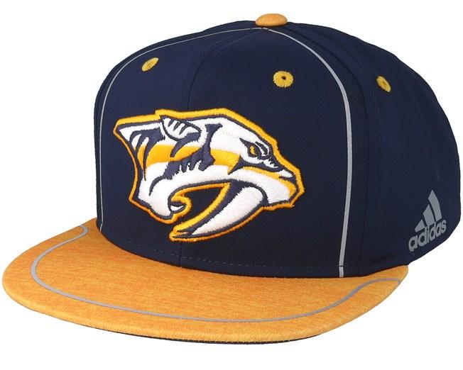 7a25fe9a509 Nashville Predators Bravo Navy Yellow Snapback - Adidas caps ...