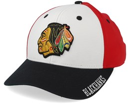 Chicago Blackhawks Cotton 3 Colour White/Red/Black Adjustable - Adidas