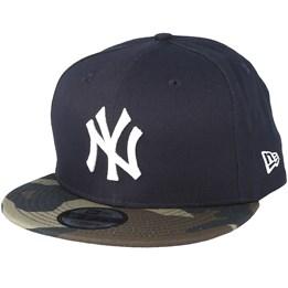sale retailer 01d92 9ad17 New Era New York Yankees Team 9Fifty Navy Camo Snapback - New Era  39.99