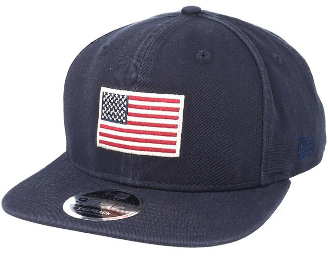 cd5f3d174 Seasonal Flag 9Fifty Navy Snapback - New Era caps - Hatstoreworld.com