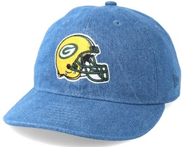 Green Bay Packers Helmet Low Profile 9Fifty Denim Strapback - New Era