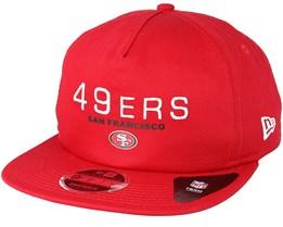 San Francisco 49ers Statement 9Fifty Red Snapback - New Era 33ac7efef